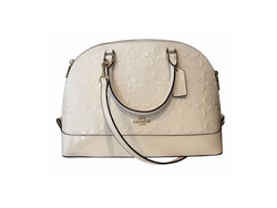 Patent Leather Siera Satchel Bag by Coach in Mistresses