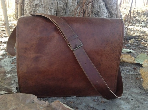 Leather Messenger Bag by Leather Bags Now in Chi-Raq