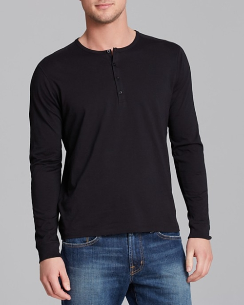 Favorite Jersey Long Sleeve Henley Shirt by Vince in Southpaw