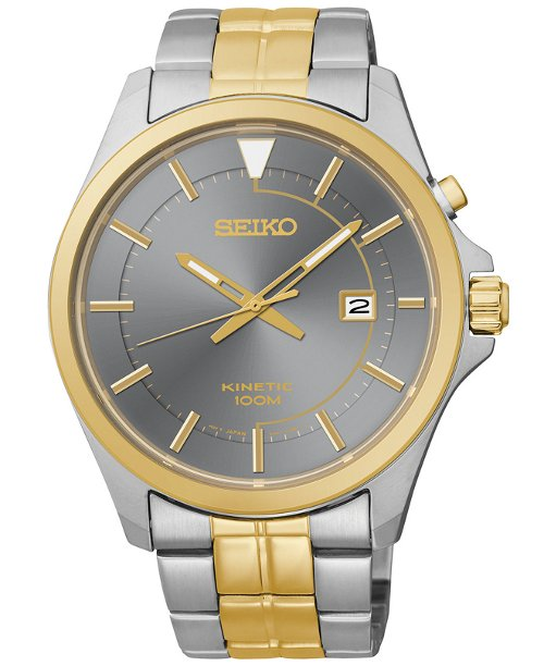 Men's Kinetic Two-Tone Bracelet Watch by Seiko in Taken 3