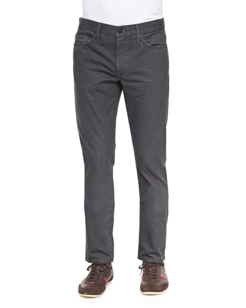 Slim Straight-Leg Five-Pocket Jeans by Vince in That Awkward Moment