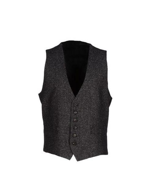 Two-Tone Pattern Vest by Hosio in Joy