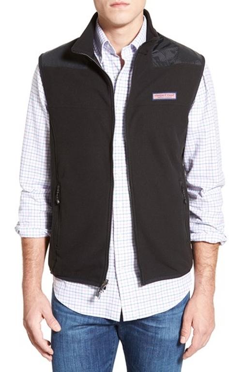 Full Zip Fleece Vest by Vineyard Vines in Criminal