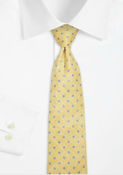 Faded Dot Linen Tie by Isaia in Suits