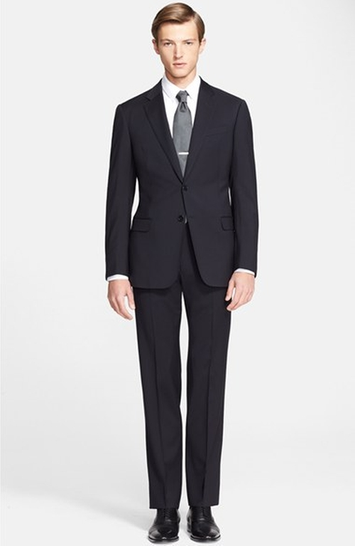 'Giorgio' Trim Fit Wool Suit by Armani Collezioni in The Good Wife - Season 7 Episode 4