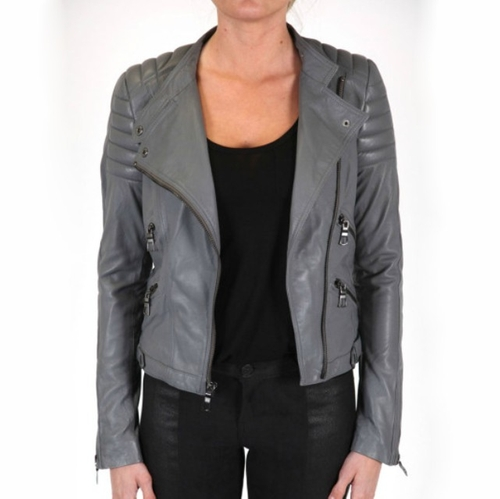 Lamb Leather Jacket by Black Orchid Denim  in Pretty Little Liars
