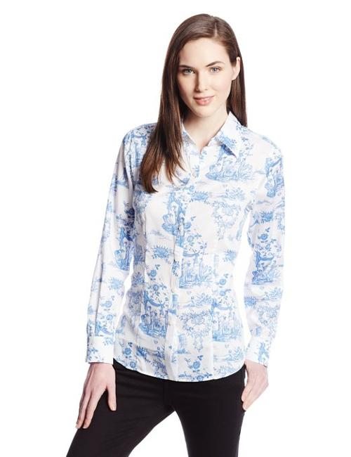 Women's Vintage Toile Print Blouse by Foxcroft in What If