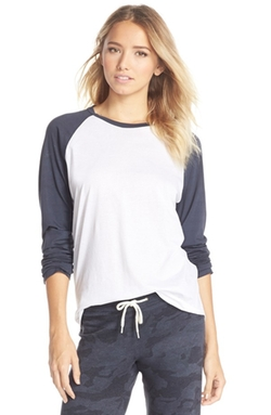 Cotton Raglan Tee Shirt by Monrow in Nashville