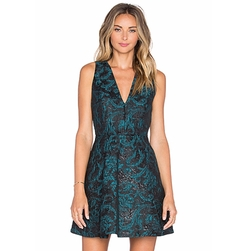 Malory V Neck Dress by Alice + Olivia in Office Christmas Party