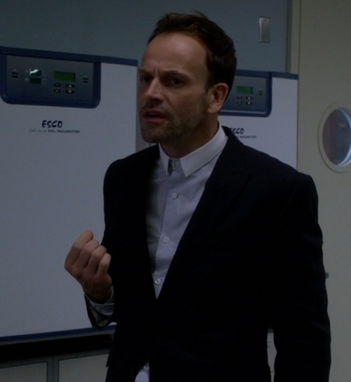 Custom Made Contrast Collar Button Shirt by Cego in Elementary - Season 4 Episode 4