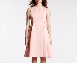 Satin Faille Dress With Cut Outs by Halston Heritage in Riverdale
