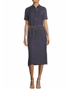 Belted Midi Shirt Dress by Peserico in The House