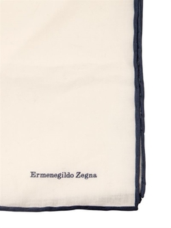 Cotton Voile Pocket Square by Ermenegildo Zegna in Suits