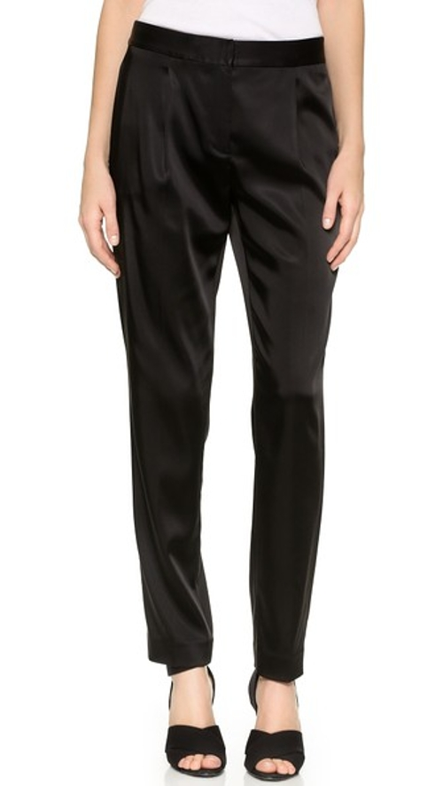 Stretch Satin Front Pleat Trousers by T By Alexander Wang in Mission: Impossible - Rogue Nation