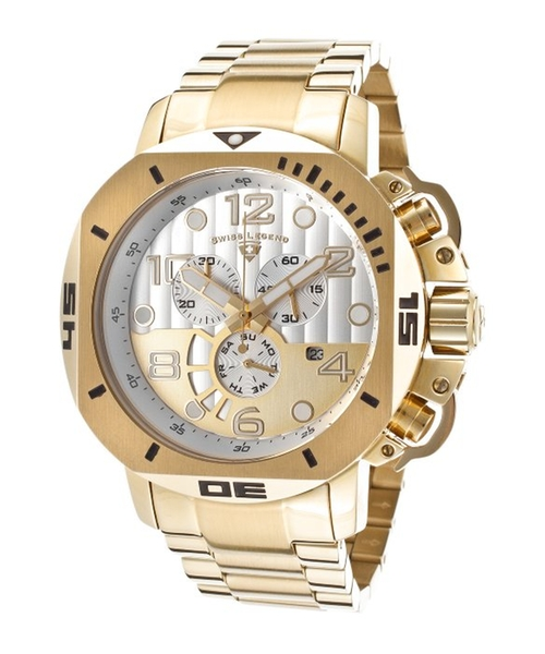 Scubador Chrono Gold-Tone Stainless Steel Watch by Swiss Legend in Barely Lethal