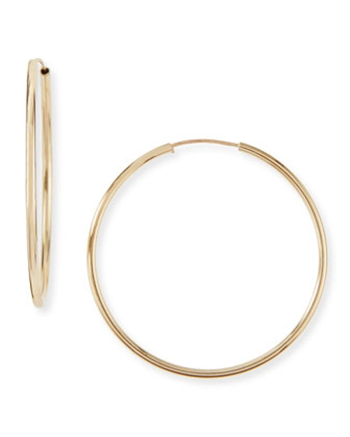Gold Small Hoop Earrings by Neiman Marcus in Dope