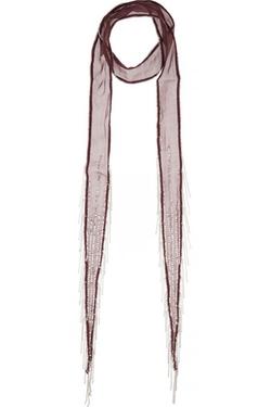 Chan Luu Embellished Chiffon Scarf