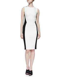 Angled Colorblock Sheath Dress by Narciso Rodriguez in Empire