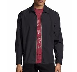 S-Nigel Zip-Front Shirt Jacket by Diesel in Shadowhunters