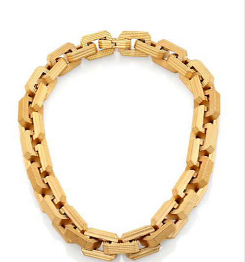 Supra Large Textured Link Choker by Eddie Borgo in The Other Woman