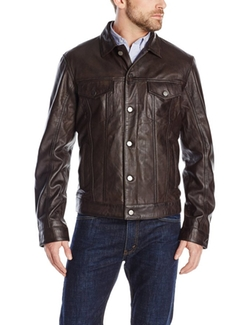 Modern Rugged Lamb-Leather Jacket by Emanuel Ungaro in Criminal