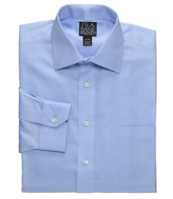Signature Spread Collar Barrel Cuff Herringbone Dress Shirt by Jos. A. Bank in Boyhood