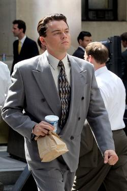 Custom Made Suit by Sandy Powell (Costume Designer) and Leonard Logsdail (Tailor) in The Wolf of Wall Street
