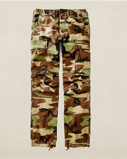 Camo Cotton Surplus Cargo Pants by Ralph Lauren in Top Five