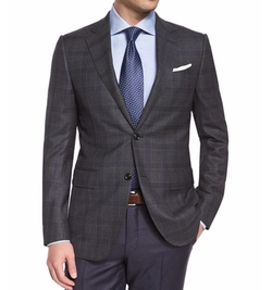 Trofeo Plaid Two-Button Jacket by Ermenegildo Zegna in Office Christmas Party