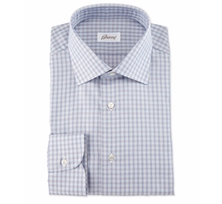 Shadow-Check Long-Sleeve Sport Shirt by Brioni in Jason Bourne