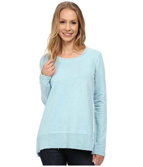 Slub French Terry Scoop Neck Pullover Sweater by Mod-O-Doc  in Bad Moms