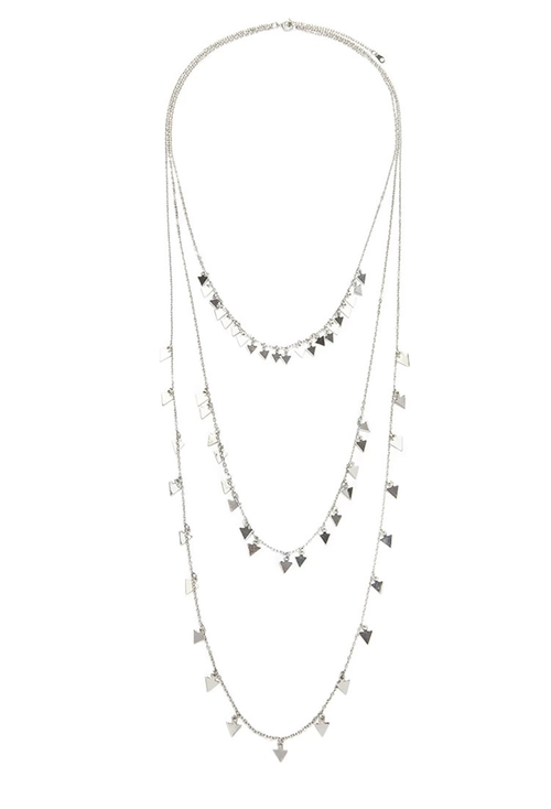 Triangle Layered Necklace by Forever 21 in The Vampire Diaries - Season 7 Episode 3