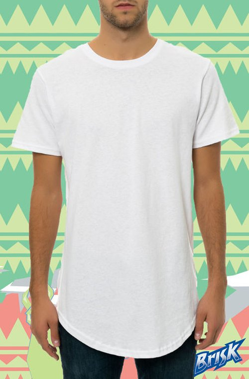 Tail Drop Tee in White by Scout in Birdman