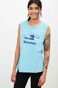 Honolulu Muscle T-Shirt by Project Social T  in Love