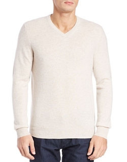 Cashmere V-Neck Sweater by Black Brown 1826 in Christmas Vacation