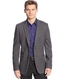 Unstructured Knit Slim-Fit Sport Coat by Calvin Klein in That Awkward Moment