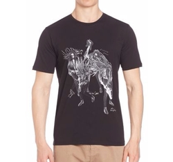 Short Sleeve Cotton T-Shirt by The Kooples in Arrow