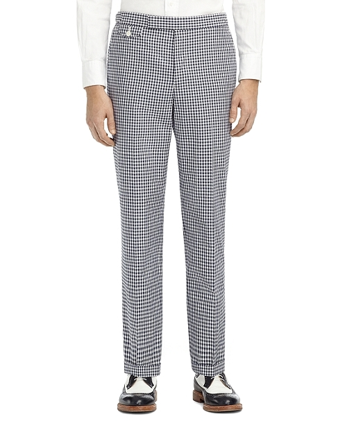 Gingham Watch Pocket Trousers by Brooks Brothers in Fight Club