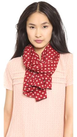 Mini Dot Print Scarf with Pop Hem by Marc Jacobs in And So It Goes