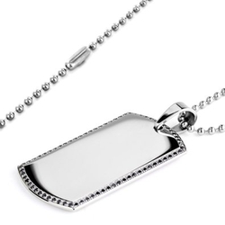 Stainless Steel Dog Tag Necklace by Crucible in Ashby