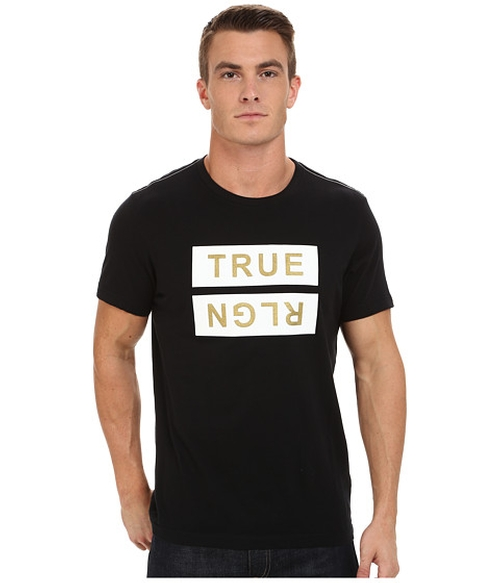 Flock Logo Tee Shirt by True Religion in Easy A
