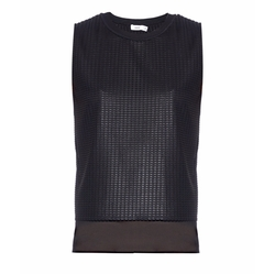 Lattice-Lace Overlay Sleeveless Top by Vince in Mistresses