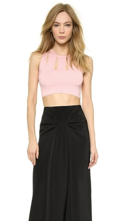 Knit Crop Top by Cushnie Et Ochs in Rosewood