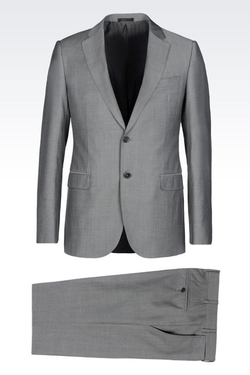 Slim Fit Suit in Virgin Wool by Giorgio Armani in Man of Tai Chi