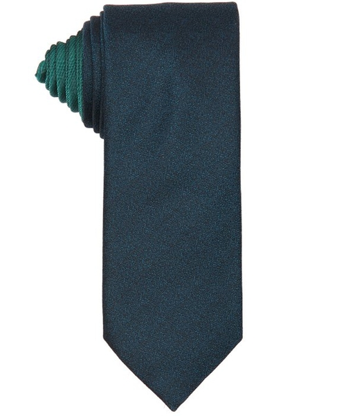Emerald Iridescent Silk 'Exclusive' Tie by Canali in Legend