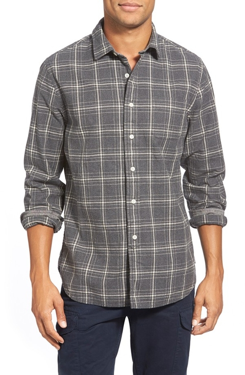 Trim Fit Plaid Oxford Sport Shirt by Grayers in Wanted