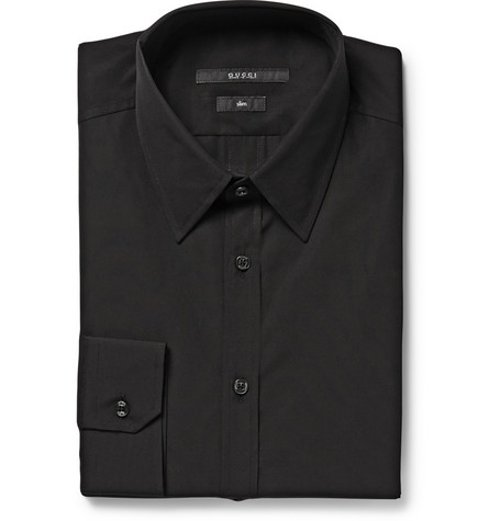 Black Cotton-Poplin Shirt by Gucci in Begin Again