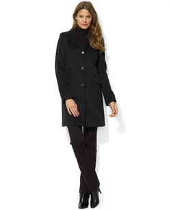 Single-Breasted Walker Coat by Lauren Ralph Lauren in Power