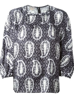 Paisley Print Blouse by Giambattista Valli in The Second Best Exotic Marigold Hotel