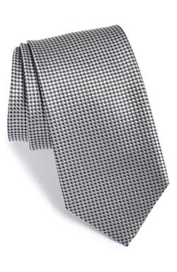 Geometric Silk Tie by Boss in Suits